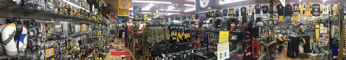 Large Selection of Gifts For Your Favorite Pittsburgh Steelers Fan at Crawford's Gift Shop - Your Black & Gold Headquarters