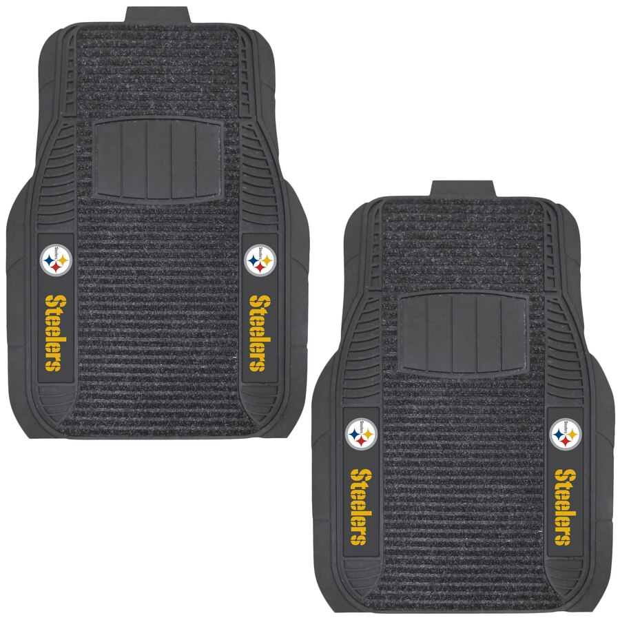 Pittsburgh Steelers Two Piece Deluxe Car Mat Set