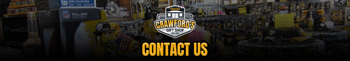 Contact Us - Crawford's Gift Shop - Your Black & Gold Headquarters